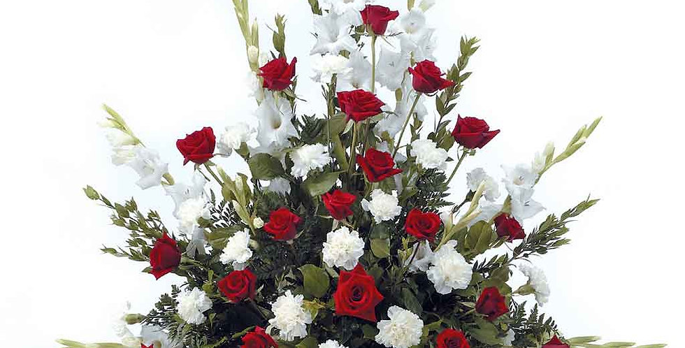 Classic Spray with Roses and Carnations