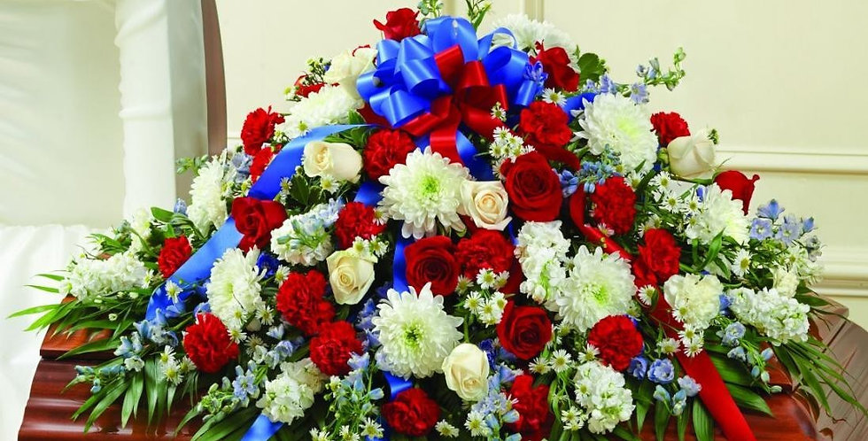 Red, White and Blue Casket Piece