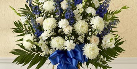 Blue and White Tribute Floor Spray