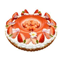 苺ミルクプリンタルト