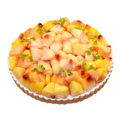 黄桃と桃のタルト