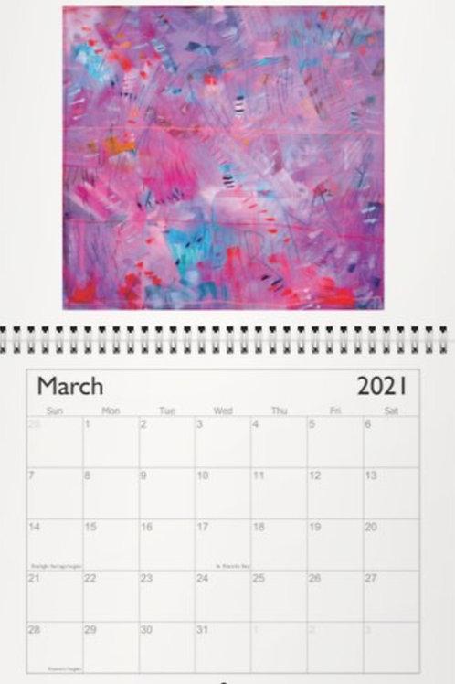 """2021 Healing Art Calendar 6.5""""x8.5"""""""