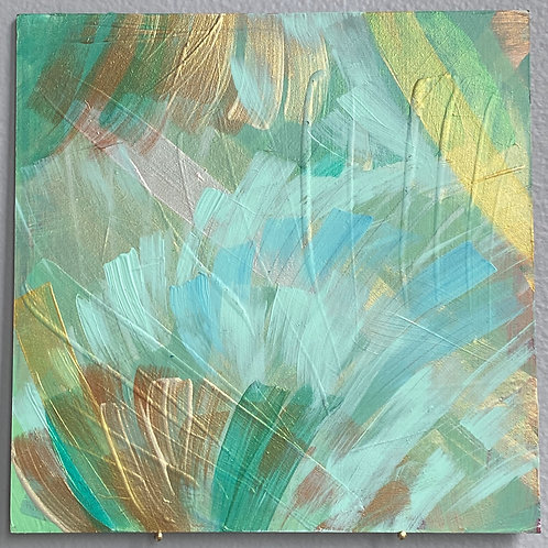 """Gold Green Blessing 23 6""""x6"""""""