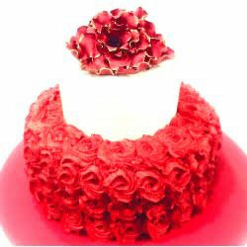 Red Rose Garden Cake 5 Pound