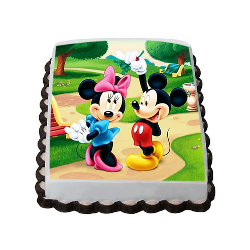 Mickey Minne Mouse Photo Cake