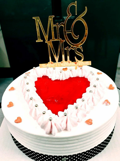 Delicious Mr. &  Mrs. Cake