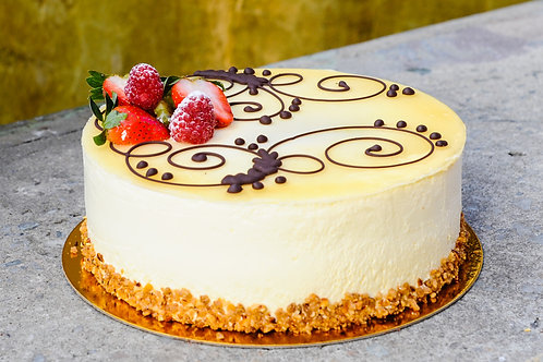 Butterscotch with Strawberry Punch Cake
