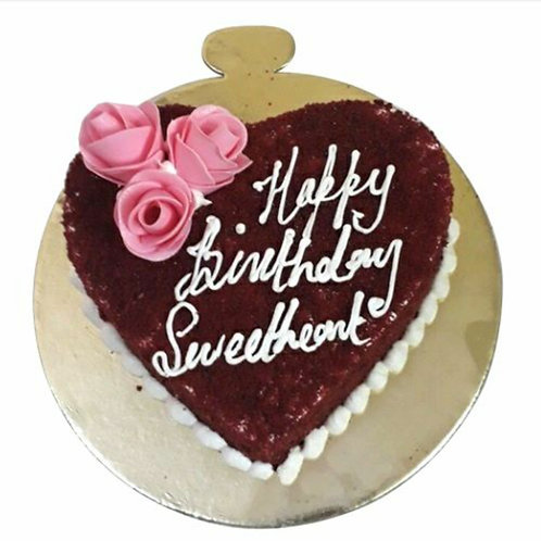 Delicious Heart Butterscotch Cake