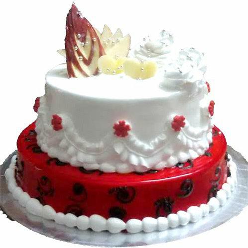 2 Tier Mix Fruit Cake 5 Pound