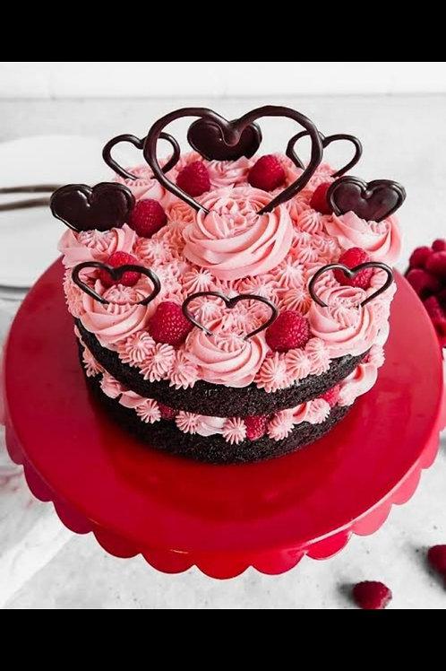 Delicious Chocolate Love Garden Cake