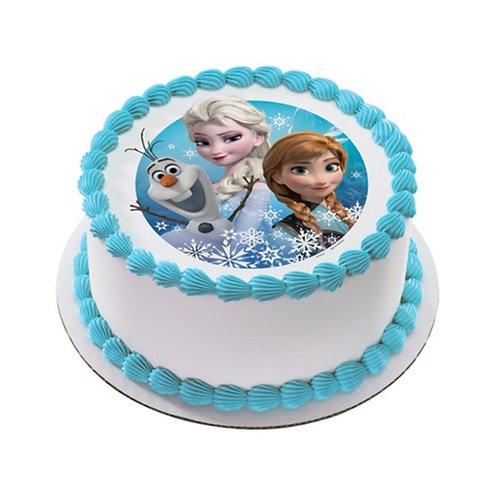 Cinderella Photo Vanilla Cake