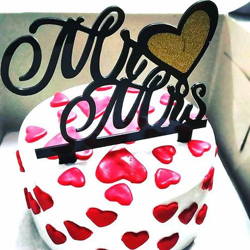 Mr. & Mrs. Cake For Anniversary