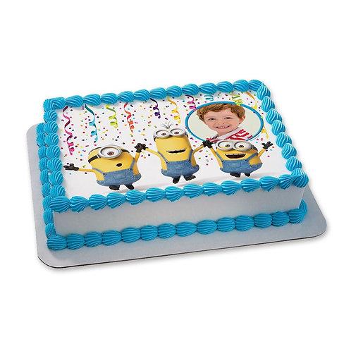 Minions Photo Vanilla Cake