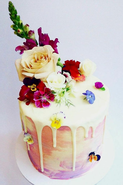 Real Flower Mix Fruit Cake