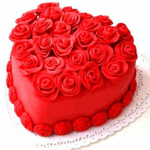 Red Rose Mix Fruit Cake