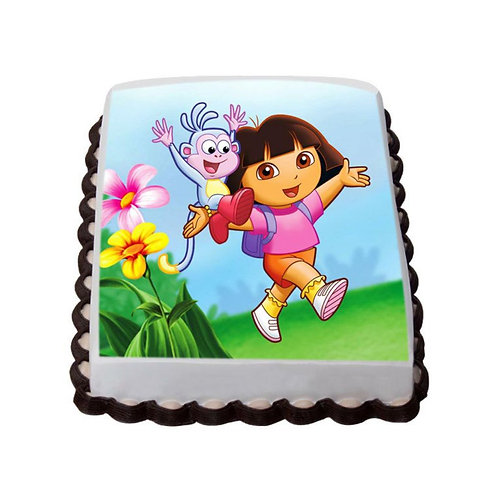 Dora Chocolate Photo Cake