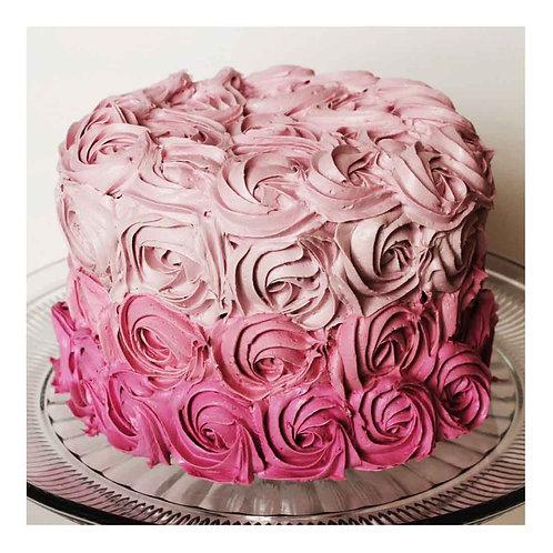Rose Late Strawberry with Tuti Fruti Cake