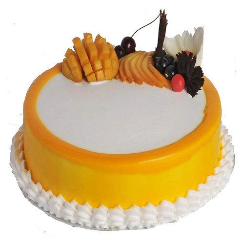 Rich Mango Cake With Chocolate Garnished