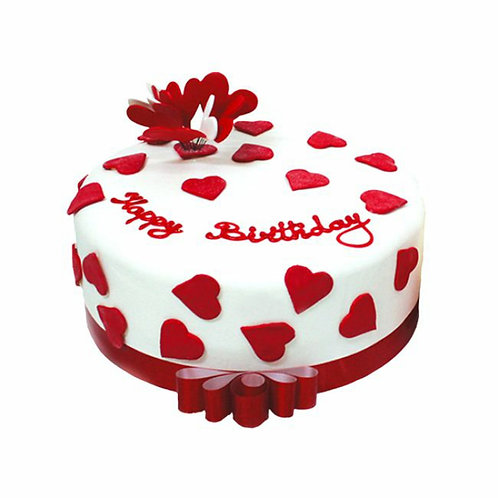 Strawberry Love Fondant Cake