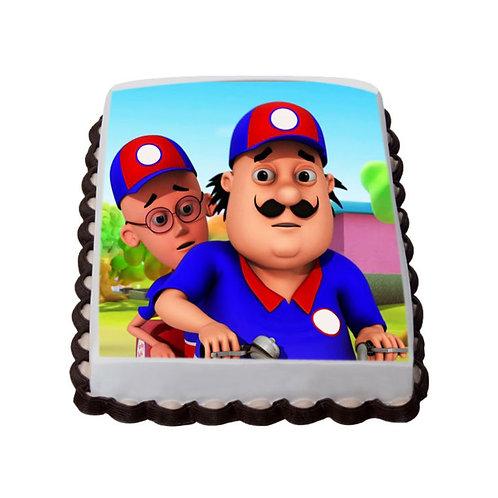 Motu Patlu Chocolate Photo Cake