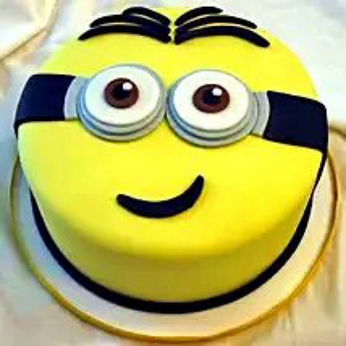 Cute Minions Fondant Cake