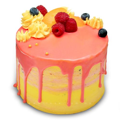 Mix Fruit Punch Cake