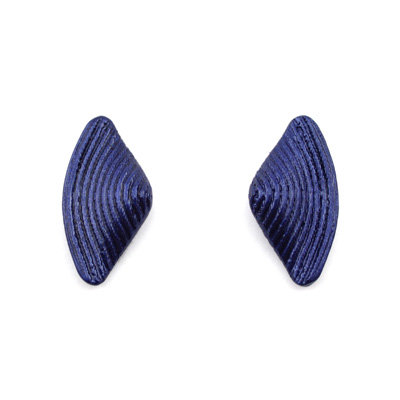 Blue Bow Stud Earrings