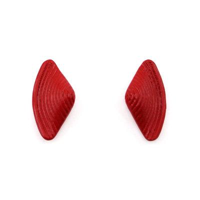 Red Bow Stud Earrings