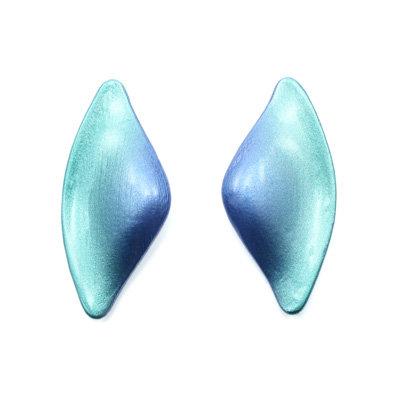 Green-Blue Tail Earrings