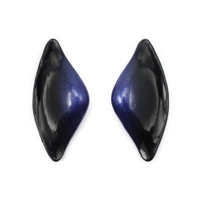 Blue-Black Tail Earrings
