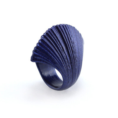 Blue Wrinkle Ring