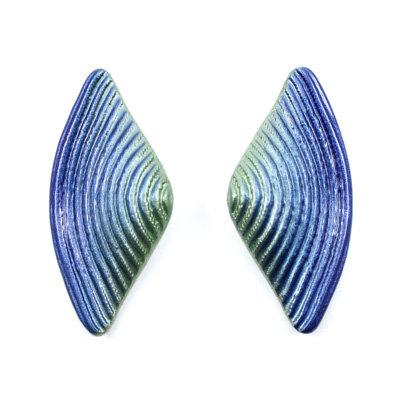 Green-Blue Bow Earrings
