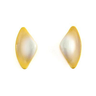 Yellow-White Tail S Earrings