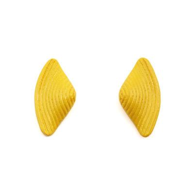 Yellow Bow Stud Earrings