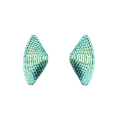 Greens Bow Stud Earrings