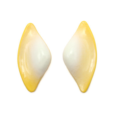 Yellow-White Tail Earrings