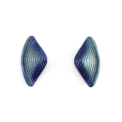 Blue-Green Bow S Earrings