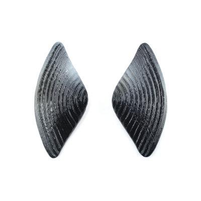 Black-White Bow Earrings