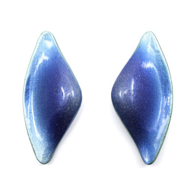 Green-Blue Tail Earrings