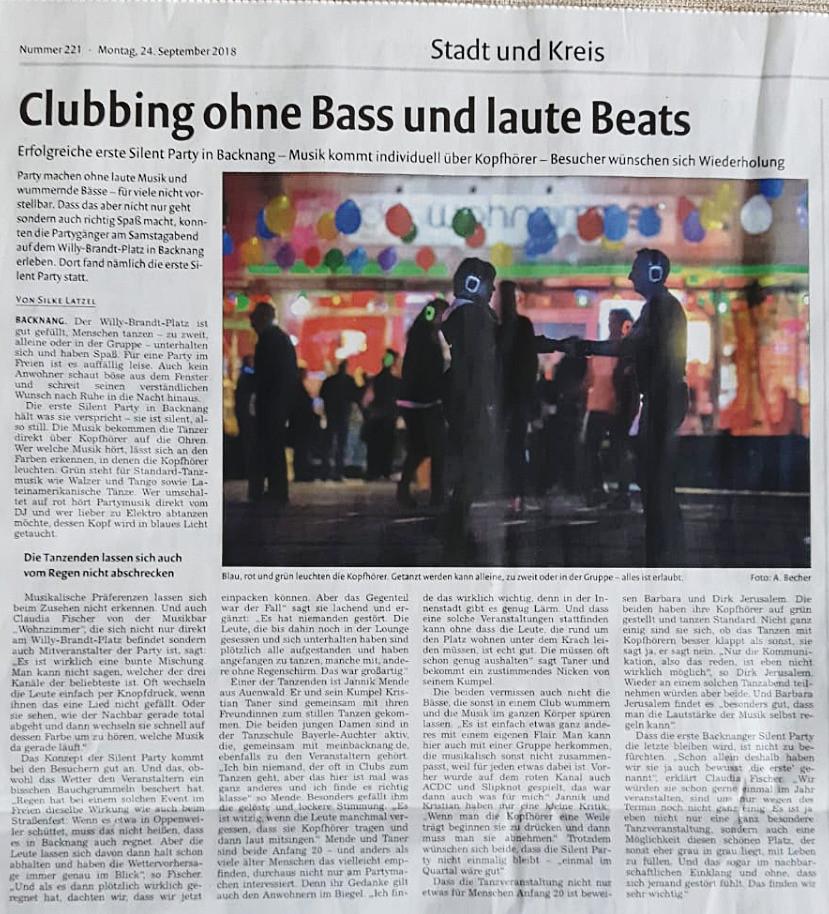 BKZ Pressenachbericht Silent Dance Night