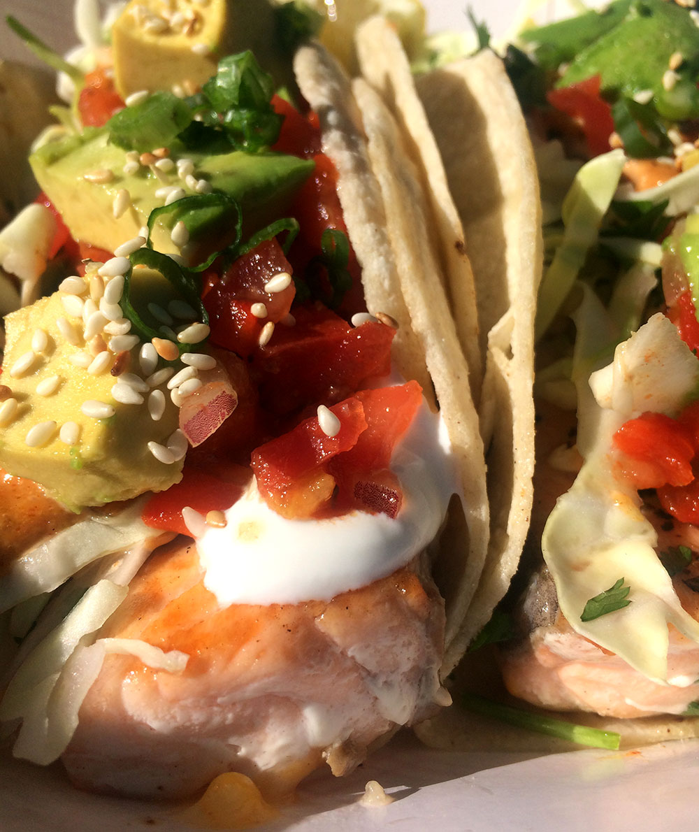 Salmon-Tacos