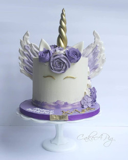 unicorn cake with wings