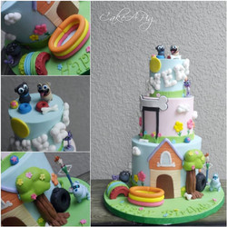 puppy dog pals cake