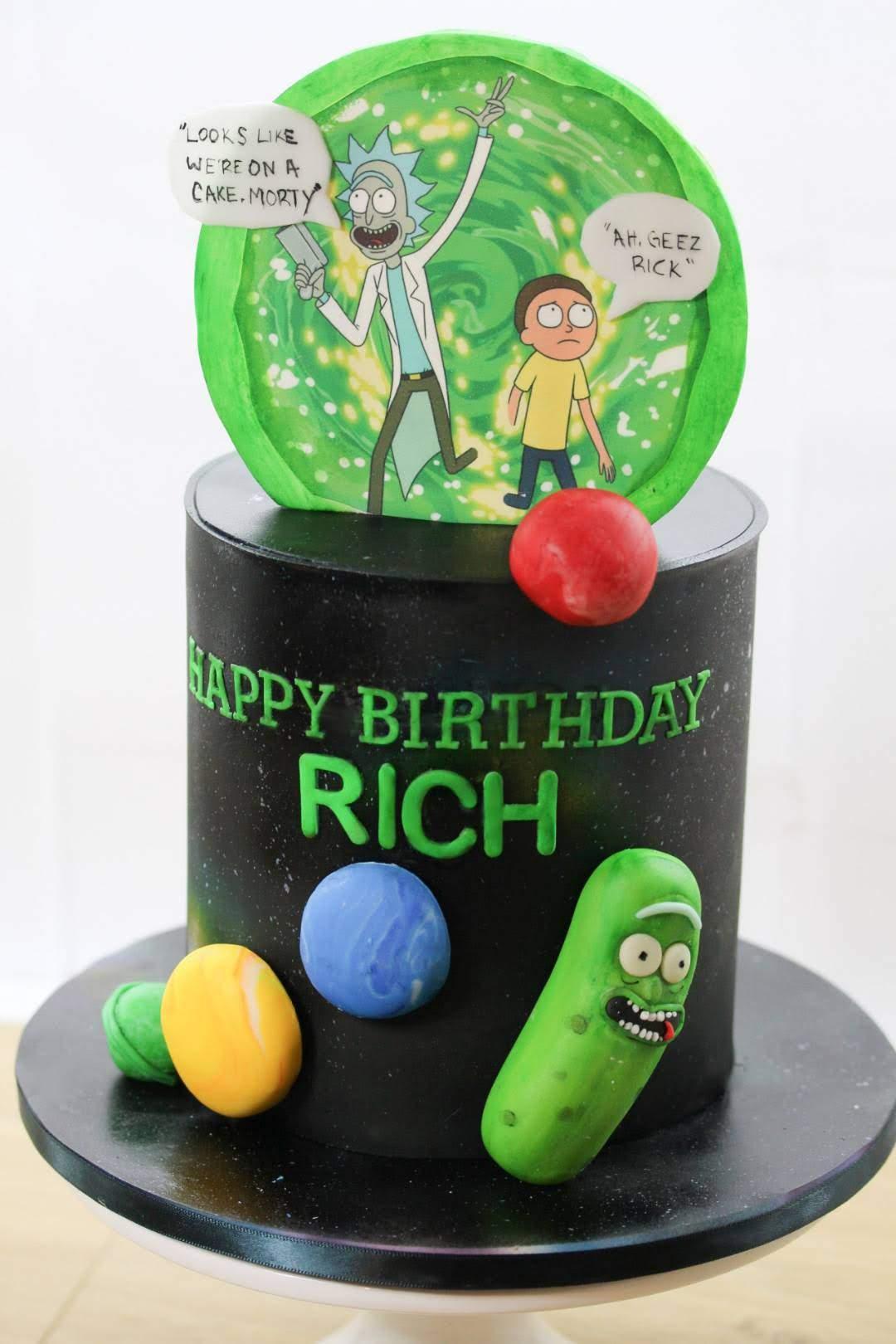Rick and Morty cake