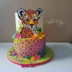 lisa frank cake