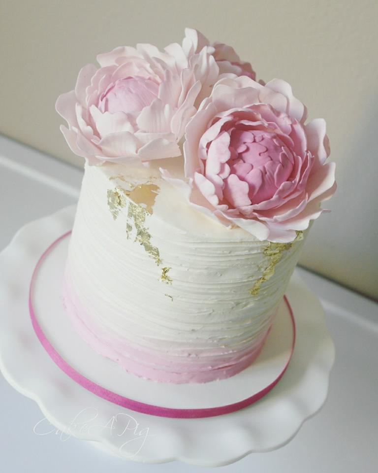 edible peony cake