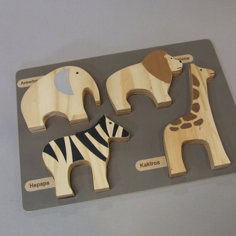 Safari Shadow Bilingual Toy Set