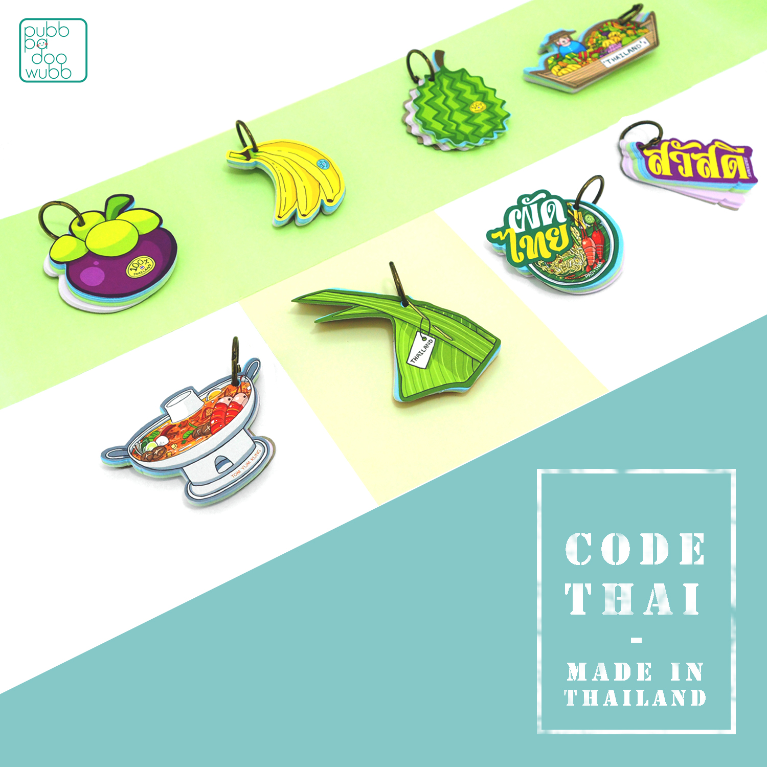 Motif wordcards Code thai