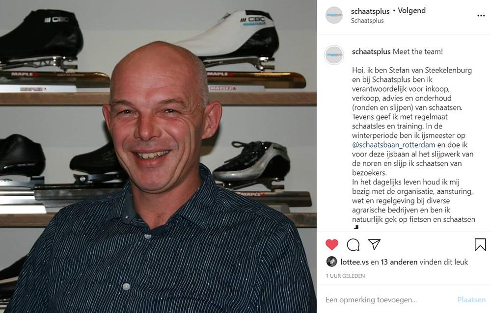 Schaatsplus team Stefan van Steekelenburg. Kennis over schaatsen, ijs en schaatstechnieken