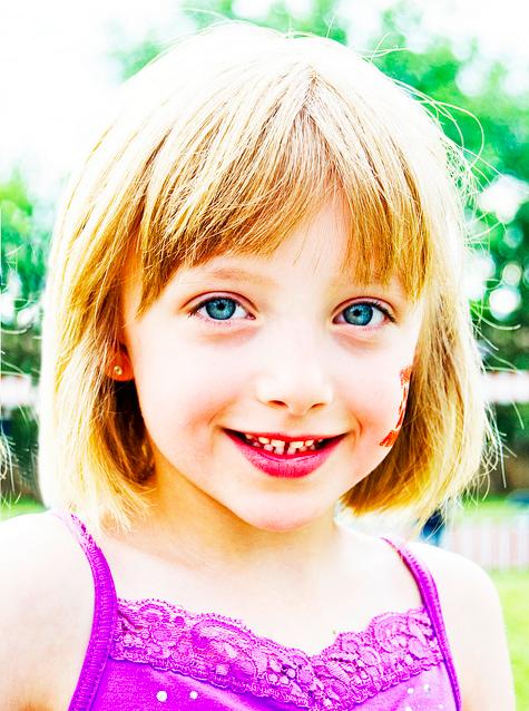 girl smiling portrait